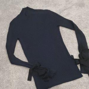 Navy mock neck sweater - sz 8